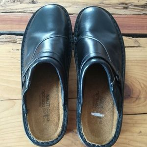 NAOT black leather mules clogs size 42, US 11